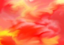 Geschilderde achtergrond en onduidelijke beelden in rode en gele tonen Royalty-vrije Stock Foto's