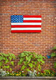 Geschilderde Amerikaanse Vlag stock fotografie