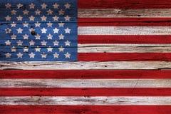 Geschilderde Amerikaanse Vlag stock afbeeldingen