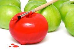 Geschilderde appel 2 stock foto's