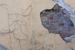 Geschilderde bevlekte gebarsten muur Royalty-vrije Stock Fotografie