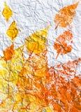 Geschilderde bladeren stock foto