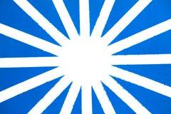 Geschilderde Blauwe en Witte Ster Royalty-vrije Stock Afbeeldingen