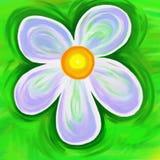 Geschilderde bloem stock illustratie