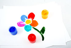 Geschilderde bloem Royalty-vrije Stock Afbeelding
