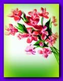 Geschilderde bloemen royalty-vrije illustratie