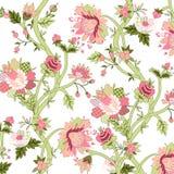 Geschilderde bloemenachtergrond stock foto