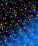 Geschilderde confettienachtergrond Royalty-vrije Stock Fotografie