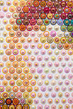 Geschilderde de textuurachtergrond van het canvasdetail Stock Afbeelding