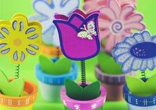 Geschilderde decoratieve bloemen royalty-vrije stock foto's