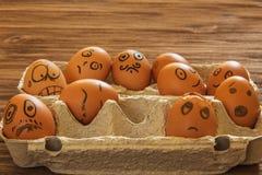 Geschilderde eieren smilies Stock Afbeelding