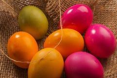 Geschilderde eieren voor de grote Pasen Royalty-vrije Stock Afbeelding