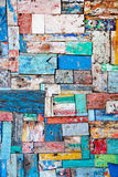 Geschilderde gepelde houten decoratietextuur Stock Afbeelding
