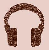 Geschilderde gestileerde hoofdtelefoons Royalty-vrije Stock Fotografie
