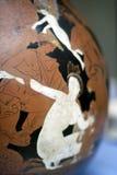 Geschilderde Griekse kunstkop royalty-vrije stock afbeeldingen