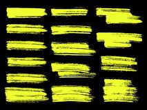 Geschilderde grunge geplaatste strepen Stock Afbeeldingen