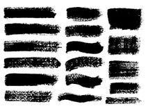 Geschilderde grunge geplaatste strepen Stock Afbeelding