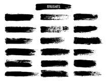Geschilderde grunge geplaatste strepen Royalty-vrije Stock Afbeeldingen