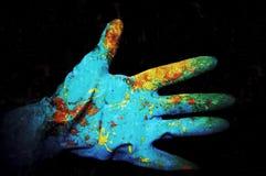 Geschilderde handschoen Stock Fotografie