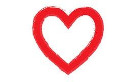 Geschilderde hartvormen Royalty-vrije Stock Foto's