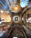 Geschilderde koepel in Pauselijke Basiliek van Heilige Mary Major Stock Foto