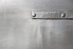Geschilderde metaaltextuur Staalachtergrond met klinknagel en het betimmeren stock foto's