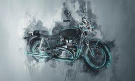 Geschilderde motorfietsfiets in grijs royalty-vrije stock fotografie