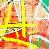 Geschilderde muur Stock Afbeeldingen