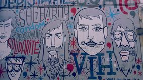 Geschilderde muur in Brussel Royalty-vrije Stock Foto's