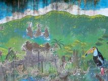 Geschilderde Muur in Ecuador Royalty-vrije Stock Afbeeldingen