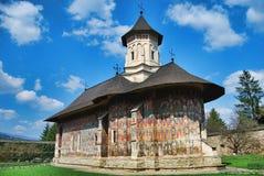 Geschilderde Orthodoxe Kerk royalty-vrije stock foto