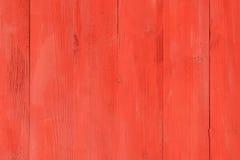 Geschilderde Oude Rode Houten Raad Royalty-vrije Stock Afbeelding
