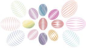 Geschilderde paaseieren Pasen-vakantiedecoratie stock illustratie