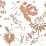 Geschilderde perzik-gekleurde bloemen op een witte achtergrond Royalty-vrije Stock Afbeelding