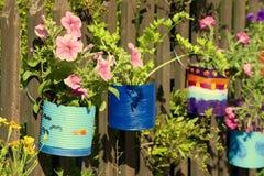 Geschilderde potten Stock Foto