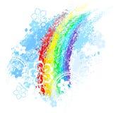 Geschilderde regenboog Stock Illustratie