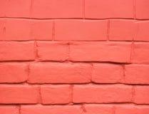 Geschilderde rode bakstenen muur voor textuur of achtergrond Royalty-vrije Stock Fotografie