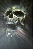 Geschilderde schedel royalty-vrije illustratie