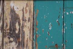 Geschilderde Tan en Teal Wooden Background Stock Fotografie