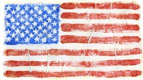 Geschilderde vlag Stock Afbeelding