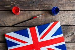 Geschilderde Vlag van het Verenigd Koninkrijk van Groot-Brittannië en Noordelijk Stock Foto