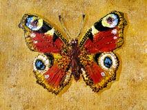 Geschilderde vlinder Stock Foto's