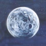 Geschilderde volle maan Royalty-vrije Stock Afbeelding