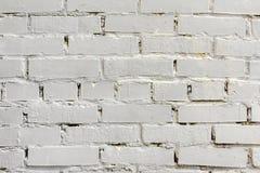 Geschilderde witte baksteenoppervlakte, stedelijke achtergrond Grafische grungetextuur Voor abstracte achtergrond, patroon, banne stock foto's