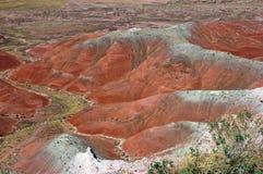 Geschilderde Woestijn stock afbeeldingen