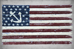 Geschilderde zeevaartvlag Royalty-vrije Stock Afbeelding