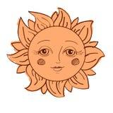 Geschilderde zon Royalty-vrije Stock Afbeelding