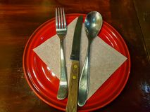 Geschirr eingestellt vor Mahlzeiten lizenzfreie stockbilder
