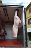 Geschlachtetes Pferd auf LKW Lizenzfreie Stockfotos