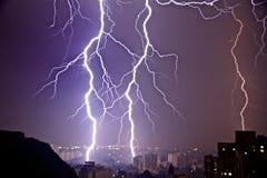 Geschlagen durch Lightning Stockfotos